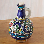 Hand Painted Floral Design Olive Oil Bottle