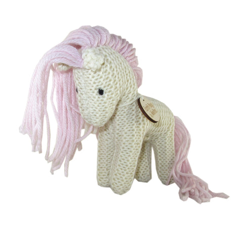 Handcrafted Pastel Earth Pony Plush Toy Cream
