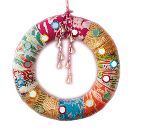 Pretty Patchwork Door Wreath