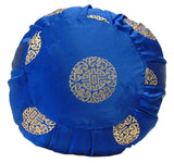 Zafu Yoga & Meditation Cushion Blue w/Gold