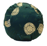 Zafu Yoga & Meditation Cushion Green w/Gold