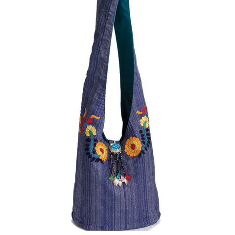 Zinnia Sky Cotton Handbag