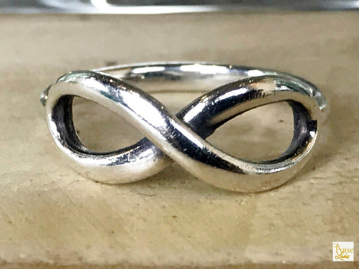 $200 TIFFANY & CO. Infinity 925 Sterling Silver Band Ring SZ 6.5 Thin Women SALE