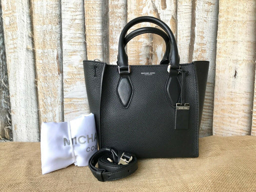 e2361c88ab5706 $890 Authentic MICHAEL KORS Collection Black Leather Gracie Tote Bag EUC  SALE!