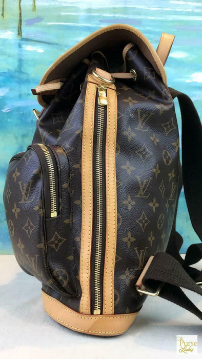 44fa195bdab $2895 LOUIS VUITTON Bosphore Brown Monogram Canvas Drawstring Backpack SALE!