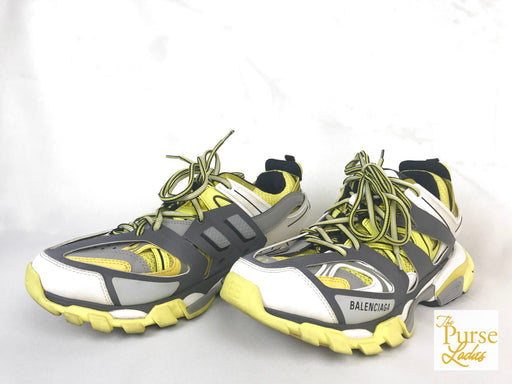 BALENCIAGA Yellow Track Runners Sneakers Men's SZ 42