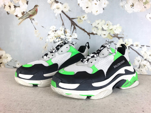 BALENCIAGA Multi-Color Leather Triple S Sneakers SZ 39