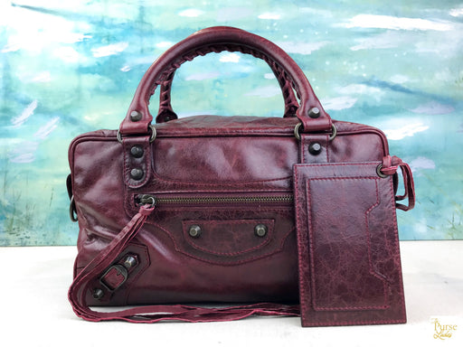 $2000 BALENCIAGA Pleine Fleur Aniline Red Leather Shoulder Bag