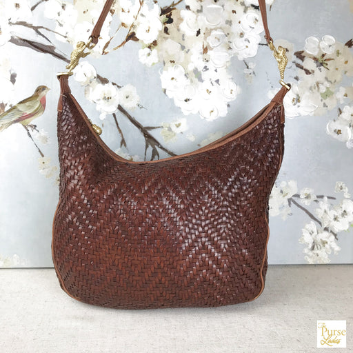 BARRY KIESELSTEIN-CORD Brown Woven Leather Hobo