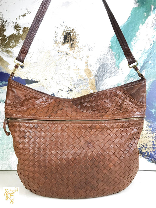 BOTTEGA VENETA Brown Intrecciato Leather Hobo Bag