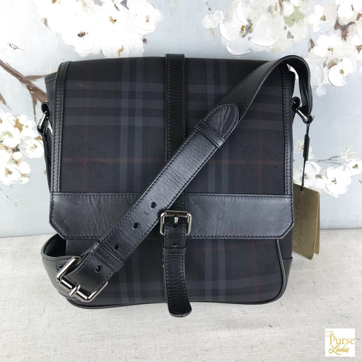 BURBERRY Black Horseferry Check Small Bryette Crossbody
