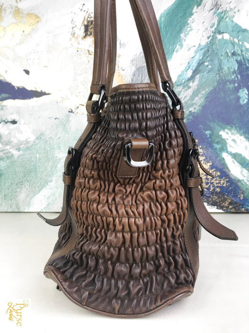 BURBERRY Brown Lowry 2 Way Tote