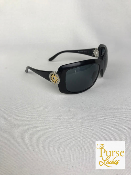 BVLGARI 851 Black Acetate Rectangular Sunglasses