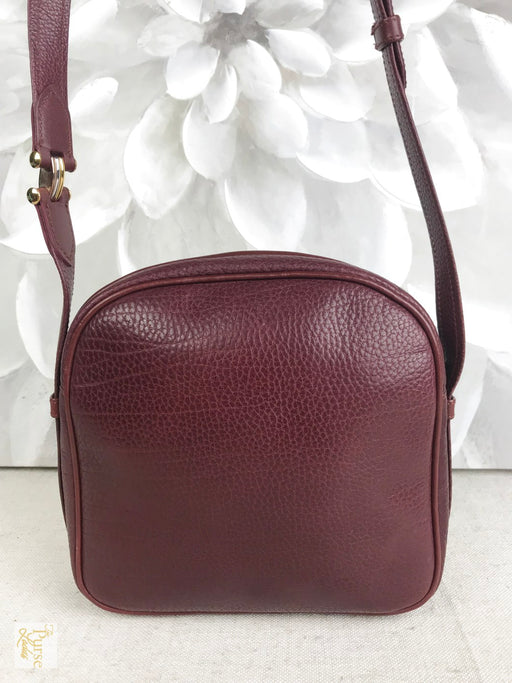 CARTIER Burgundy Leather Crossbody Bag