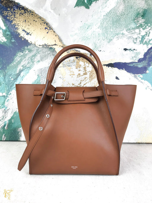 CELINE Brown Leather Big Bag Small Tote