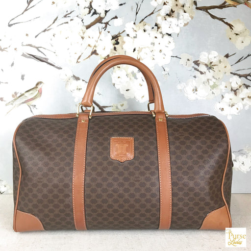 CELINE Brown Macadam Duffle Bag