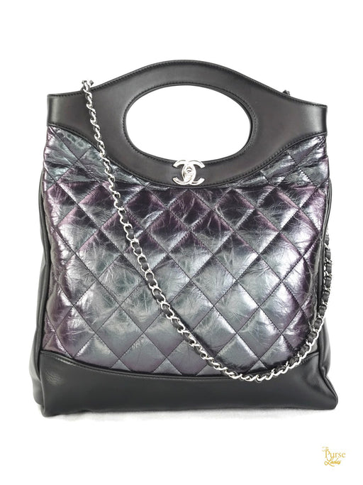 CHANEL Oil Spill Quilted Leather 31 Shopper
