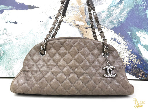 CHANEL Gold Just Mademoiselle Bowling Bag