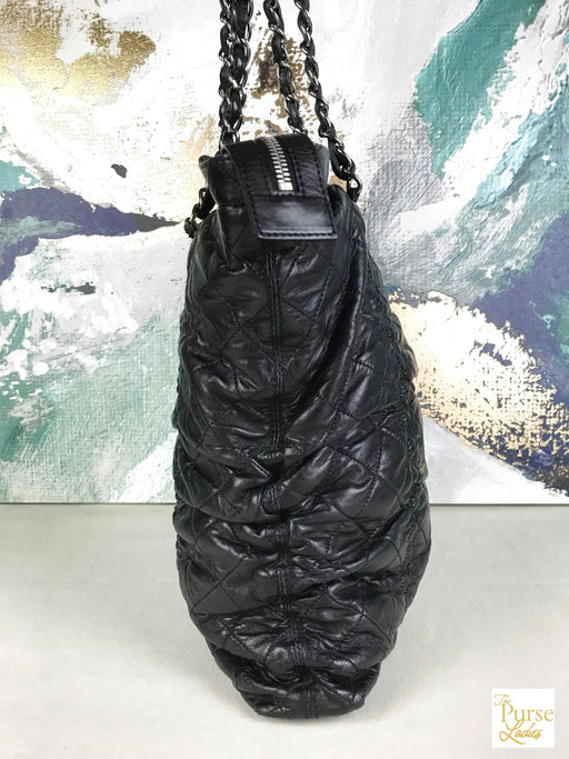 CHANEL Black Quilted Sharpei Tote