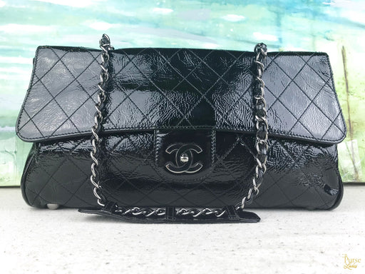 CHANEL Black Patent Leather Ritz Bag