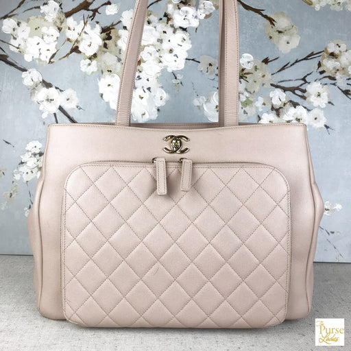 CHANEL Blush Pink Caviar Leather Business Affinity Tote