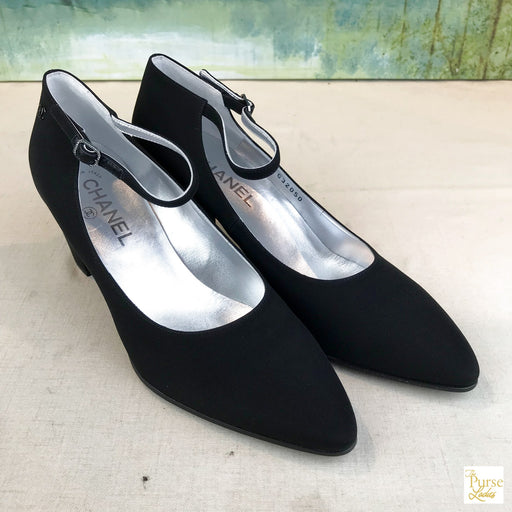 CHANEL Mary Jane Pumps Sz 40.5