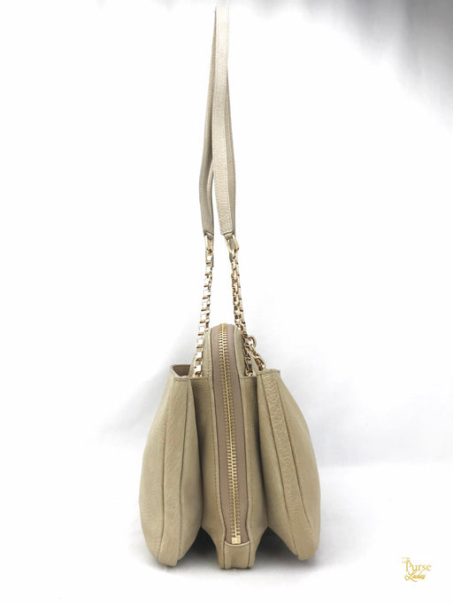 Chloe Beige Leather Lucy Shoulder Bag