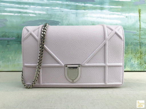 CHRISTIAN DIOR Pink Diorama Wallet on Chain