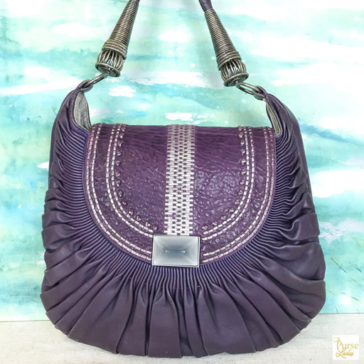 CHRISTIAN DIOR Purple Le Plisse Hobo