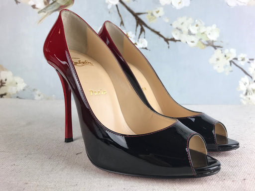 CHRISTIAN LOUBOUTIN Red Degrade Yootish Pumps SZ 38