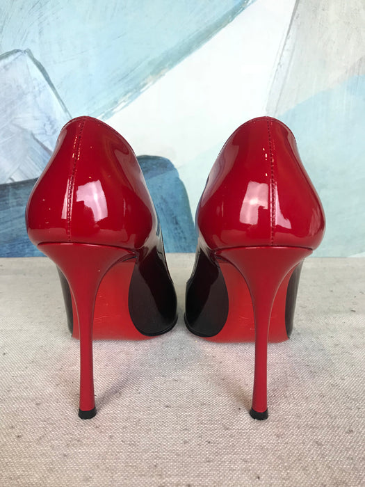 sports shoes 82a9a 8908e $745 CHRISTIAN LOUBOUTIN Yootish Red & Black Degrade SZ 38 Pumps