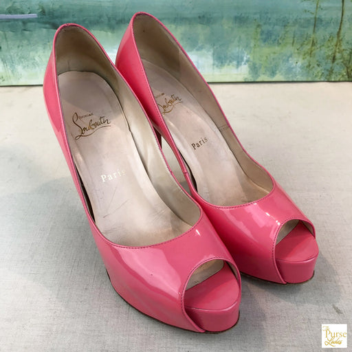 CHRISTIAN LOUBOUTIN Pink Hyper Prive Pumps SZ 38.5