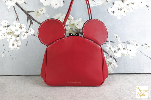 COACH Mouse Head Kisslock Satchel Bag