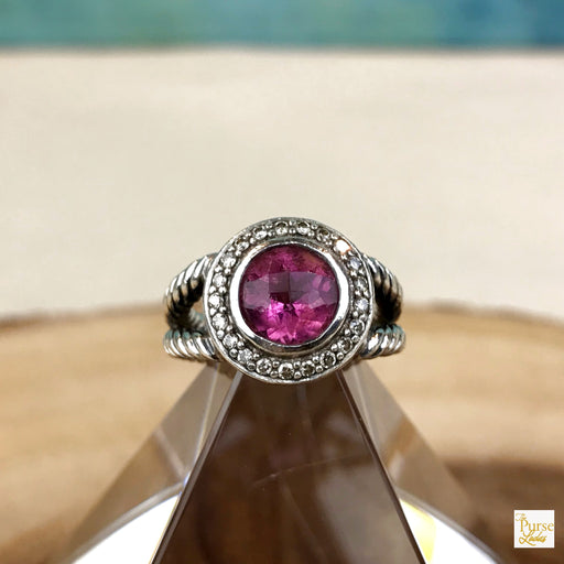 David Yurman 925 Sterling Silver Cerise Ring