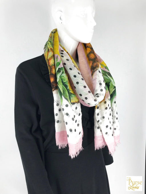 DOLCE & GABBANA Multi-Color Pineapple Scarf
