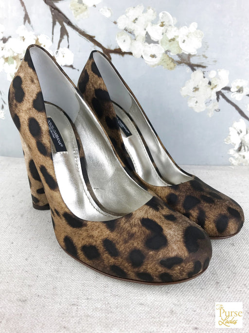 DOLCE & GABBANA Brown Leopard Pumps SZ 39