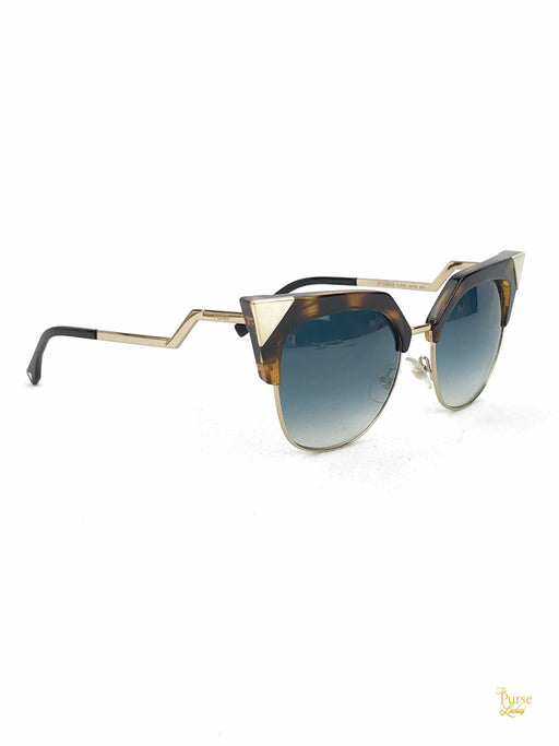 FENDI FF0149/S Tortoise & Gold Cat Eye Sunglasses
