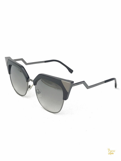 FENDI FF0149/S Black & Silver Cat Eye Sunglasses