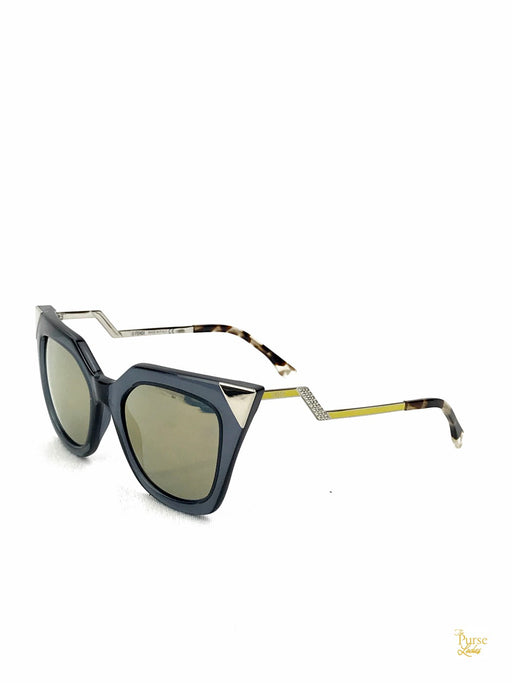 FENDI FF 0060/S Black Clear Acetate Cat Eye Sunglasses