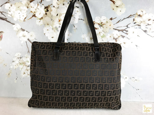 FENDI Brown Zucchino Shoulder Bag