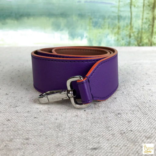 FENDI Purple/Brown Leather Shoulder Strap