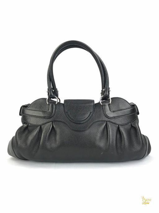 SALVATORE FERRAGAMO Black Marisa Leather Shoulder Bag