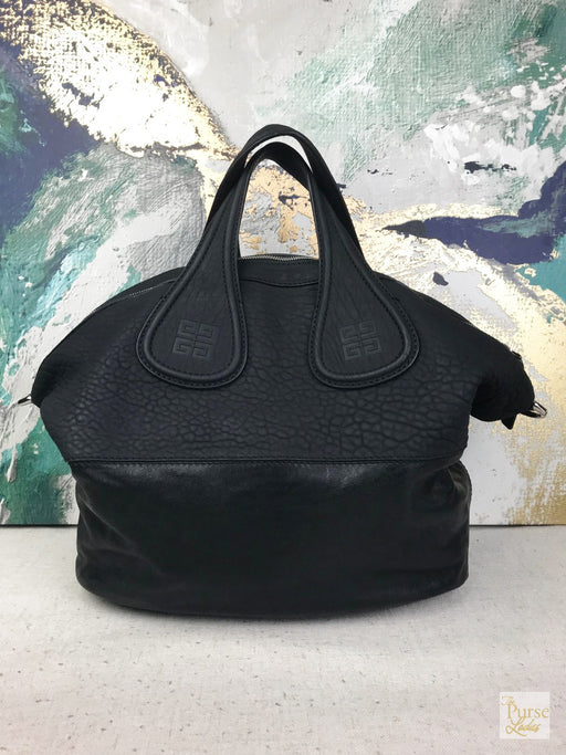 GIVENCHY Black Leather Nightingale Biker Tote Bag