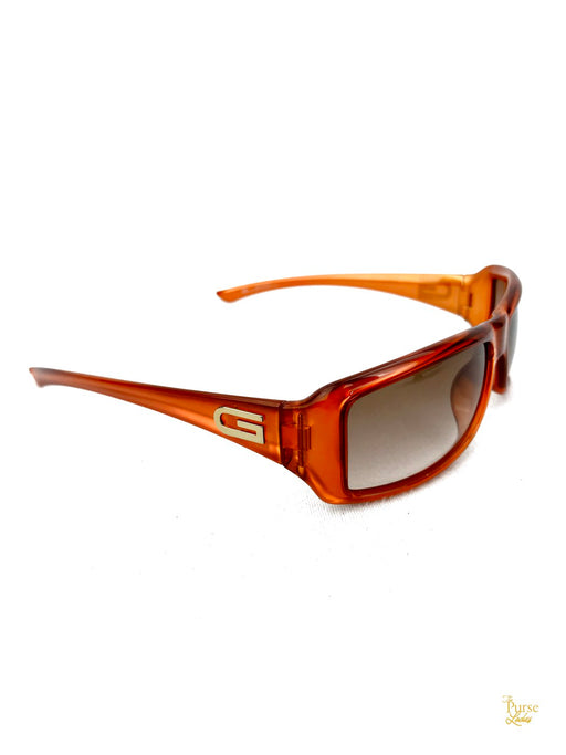 GUCCI GG 2551/S Orange Acetate Rectangular Sunglasses