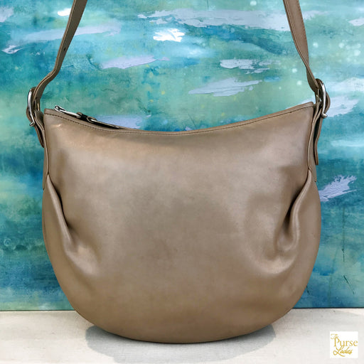 $790 GUCCI Beige Leather Pleated Vintage Shoulder Bag SALE!