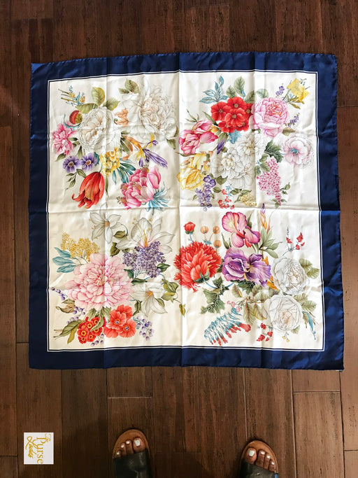 GUCCI Multi-Color Silk Flora Scarf