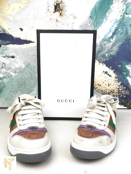 GUCCI Multicolor Sz 39 Stripe Sneakers Shoes