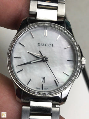 GUCCI Silver Stainless Steel G Timeless YA216543 Watch