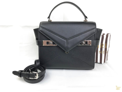 HENRI BENDEL Black Leather Mini Uptown Satchel