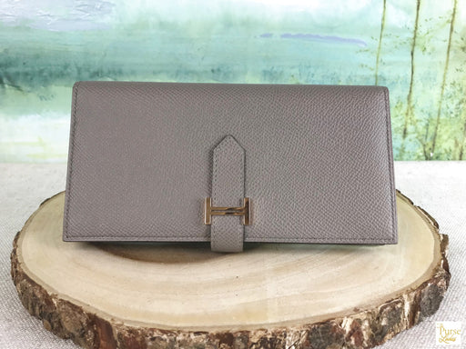 HERMES Grey Bearn Wallet